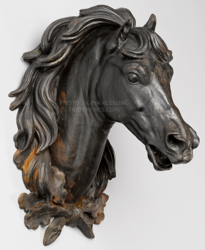 This is the iron horse head that ended up residing over the mantle. How that came to be mine is a story all in itself. You can read it here.