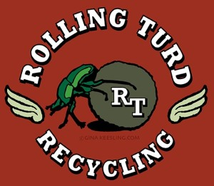 Rolling Turd Recycling Logo